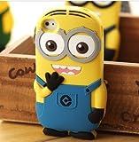 bigboy(TM) Moi Moche Et Méchant Minion Me couverture molle mignonne Populaire Despicable de silicone de caisse en caoutchouc pour iPhone 4 4S Couleur Bleu
