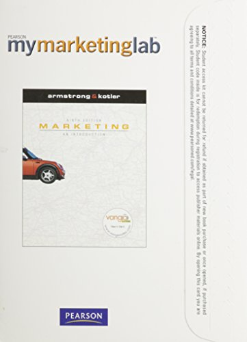 MyMarketingLab with Pearson eText -- Access Card -- for Marketing: An Introduction