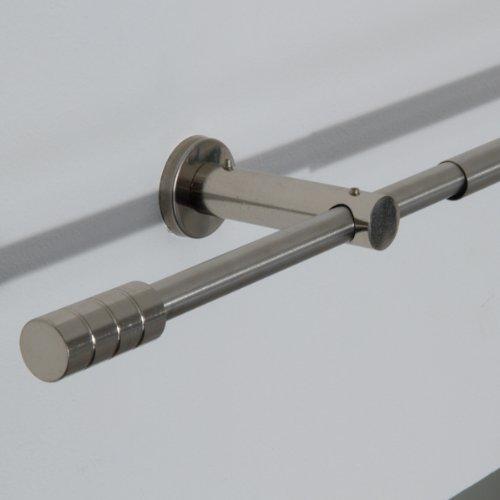 Asta in acciaio 110-200 cm cilindrica/bastone per tenda regolabile