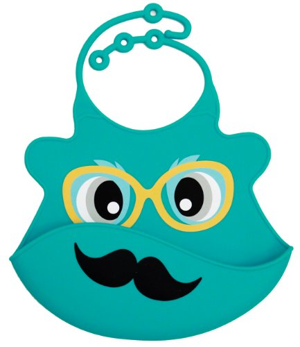 Waterproof Silicone Bib - Mustache, Frenchie Mini Couture