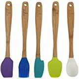 "Core Kitchen 8.25"" 5pc Silicone Mini Utensil Set With Bamboo Handles - Rhodes"