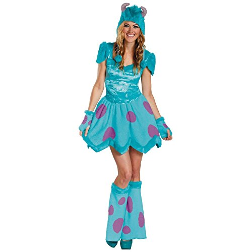 [GSG Sully Costume for Women Adult Monsters Inc Halloween Fancy Dress] (Sully Monsters Inc Costume Toddler)