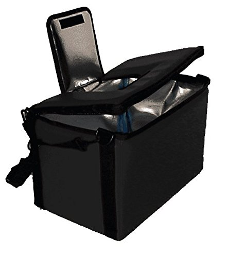 TCB Insulated Bags HWK-1D-Black Food and Beverage Carriers: Hawking Vending Bag with Dispensing Lid, 12