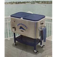 Buy Tommy Bahama 100 Qt Stainless Steel Rolling Cooler by Tommy Bahama