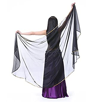 Dreamspell Chiffon Fashion Semicircle Belly Dance Hand Scarf Best Stage Props