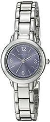 Anne Klein Women's AK/2057BLSV Silver-Tone Bracelet Watch