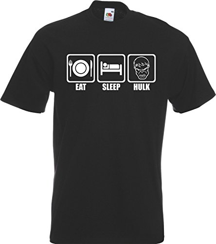 Eat Sleep Hulk T-shirt Tshirt Avenger Mens Dc Marvel Comic New All Sizes Colour Picture
