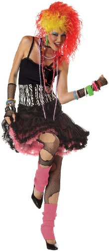 California Costumes Women's 80'S Party Girl Costume, Black/Pink/White,