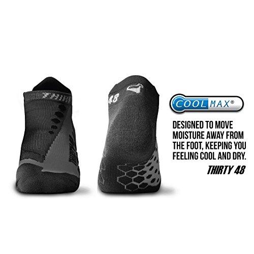 Thirty48 Running Socks Unisex, CoolMax Fabric Keeps Feet Cool & Dry