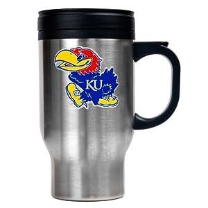 Buy NCAA Kansas Jayhawks 16oz Stainless Steel Travel Mug by Great American Products