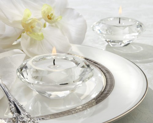 Crystal Diamond-Shaped Tea Light Holder (Set Of 288) - Baby Shower Gifts & Wedding Favors