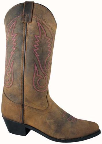 Taos Womens Distressed Brown Western Boot 7.5 M Br