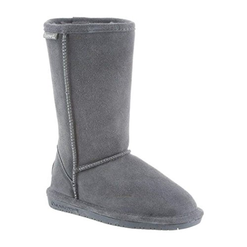 "BEARPAW Girl's Emma Tall Youth 9"" Shearling Boots (13, Charcoal)"