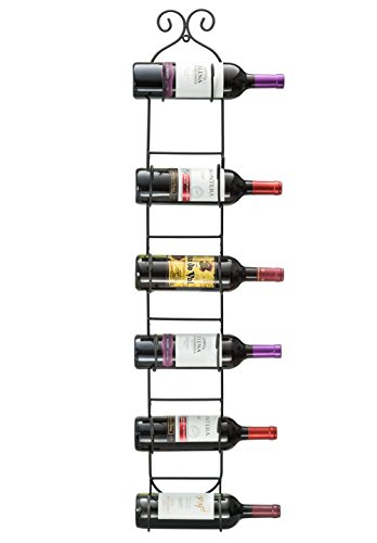 Black Wall Mount Wine Rack Towel Rack ...