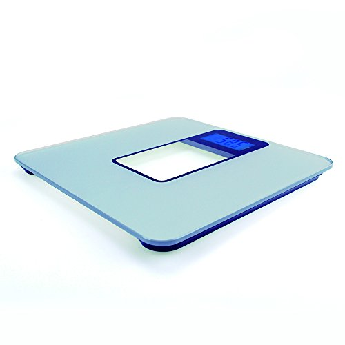 Bestek® Tempered Glass Blue Backlit Lcd Display Electronic Step-On Body Scale Btbc001