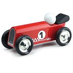 Vilac Old Convertible Toy Car, Red