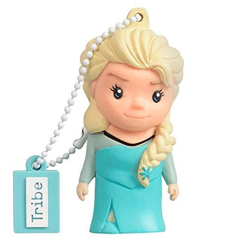 Tribe FD026402 Frozen Pendrive 8 GB Simpatiche Chiavette USB Flash Drive 2.0 Memory Stick Archiviazione Dati, Portachiavi, Elsa