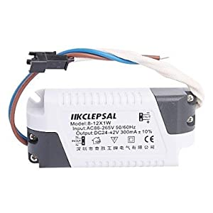 GX(8-12)x1W LED Driver Power Source Converter for Ceiling Light (24-42V,300mAh) by GX Installation/power