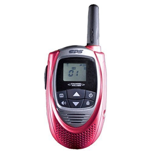 CPS CP101 Walkie Talkie FRS (Owner of US Design Patent,Will Take Legal Action To Stop Infringing Product T228) (Red)(1 Piece)
