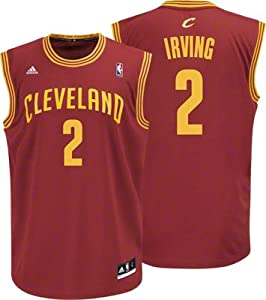 NBA Adidas Cleveland Cavaliers Kyrie Irving Revolution 30 Replica Youth Jersey Large (Size 14-16) Maroon