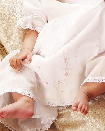 Cottonwhite Rachel Infant White Batiste Short Sleves Baby Dress. Rachel. (6M) front-246468