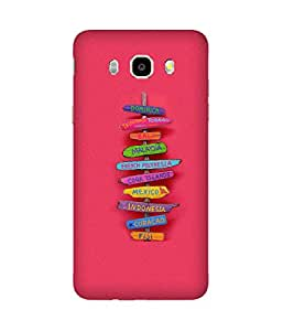 Where To Go Back Cover Case for Samsung Galaxy J5