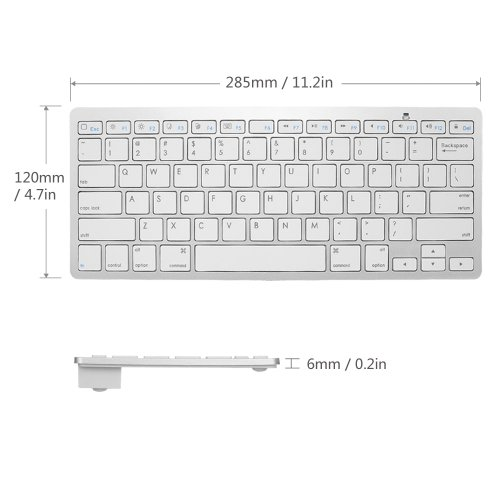 Bluetooth 3.0 Wireless Keyboard for Apple iPad-1 1 2 3 4 Mac Computer PC Ma