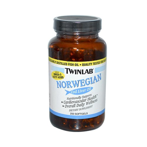 Twinlab Norwegian Cod Liver Oil - 250 Softgels