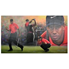 Tiger Woods Signed 36x62 Canvas - LE 40 50 - Upper Deck Certified - Autographed Golf... by Sports Memorabilia