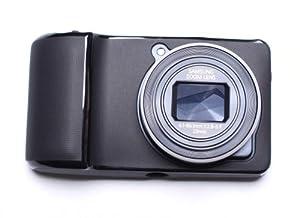 Hamdis TPU Gel Skin Case for Samsung Galaxy Camera EK-GC100 Hybrid Flexishield Hydro Protective Carry Cover - Black