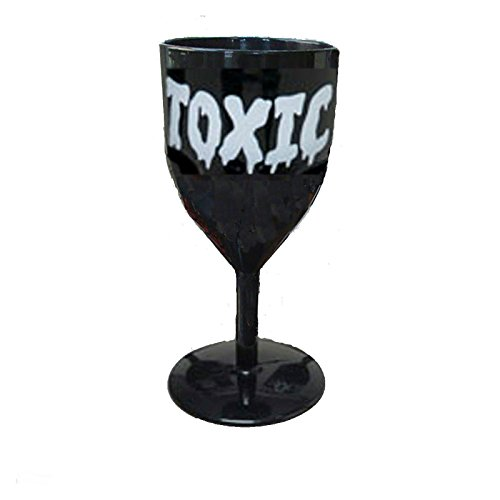 [TOXIC Halloween BLACK GOTHIC GOBLET Party Walking Dead Glass-POPULAR ITEMS] (Wine Inspired Halloween Costumes)