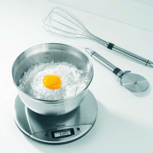 Brabantia 385346 Balance de Cuisine Digitale Matt Steel
