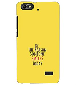 PrintDhaba Quote D-1130 Back Case Cover for HUAWEI HONOR 4C (Multi-Coloured)