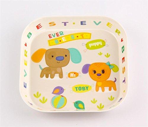 DELLT- Plate Accueil Petite assiette de fruits Mélamine Plate Creative Enfants Cute Cartoon Dessert Plateau Plateau en plastique