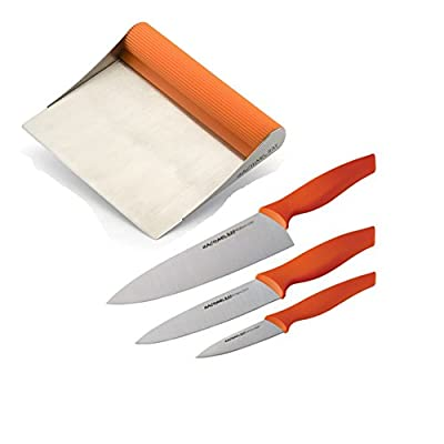 Premier Rachael Ray Scraper Shovel Spatula Set with Bonus 3-Pcs Knifes Set.