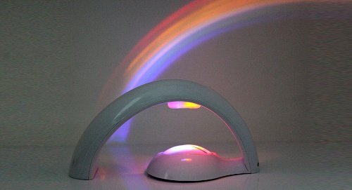 2-Mode Rainbow-In-Room 7-Led Amazing Rainbow Projector - (Premium Quality)
