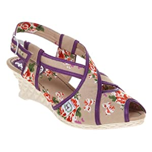 vegan strappy flowery sandals