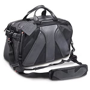 Manfrotto LINO Grand sac Messenger en cuir et tissu pour Reflex pro avec 70-200 mm + 4 Objectifs + Accessoires + Ordinateur portable