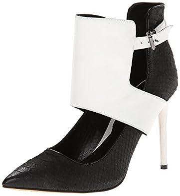 Kenneth Cole New York Women's Bon Net Dress Pump,Black/White,6 M US