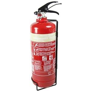 mumbi Schaum Feuerlöscher 2L Brandklasse A (feste Stoffe) und B (flüssige Stoffe) inklusive Halterung - konform nach DIN EN 3