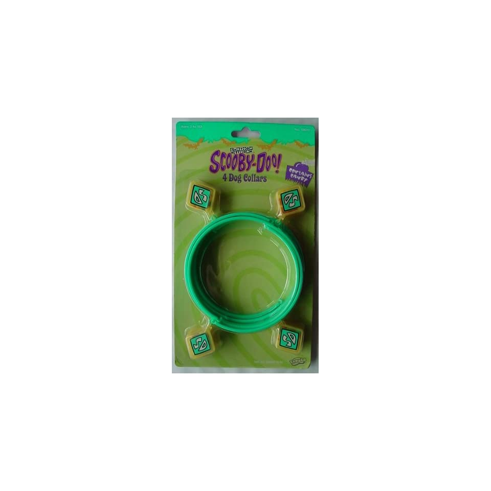 SCOOBY DOO 4 Dog Candy Collars 1999 CARTOON NETWORK