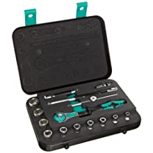 Wera Zyklop 8100 SA 3 1/4-Inch SAE Ratchet Set, 15-Piece
