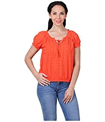 Mind The Gap Summer Cotton Orange Top