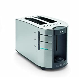 Toastess DLTT671 2-Slice Electronic Toaster, Stainless Steel