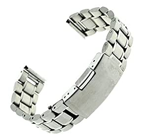 Ritche 22mm Stainless Steel Bracelet Watch Band Strap Straight End Solid Links Color Silver