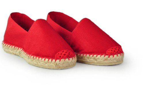 Espadrille-homme-rouge-fabrication-artisanale-made-in-pays-basque-france