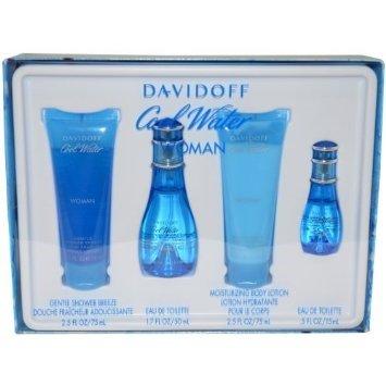 Davidoff Cool Water Gift Set 1.7oz (50ml) EDT + 2.5oz (75ml) Body Lotion + 2.5oz (75ml) Shower Gel + (Cool Water Gift Set compare prices)