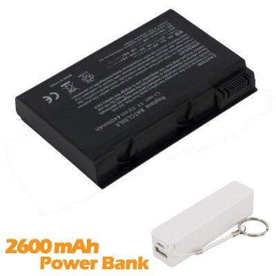 Battpit Batterie d'ordinateur Portable de Remplacement pour Acer Aspire 5100-5778 (4400mah / 49wh) avec 2600mAh de banque de puissance / batterie exte