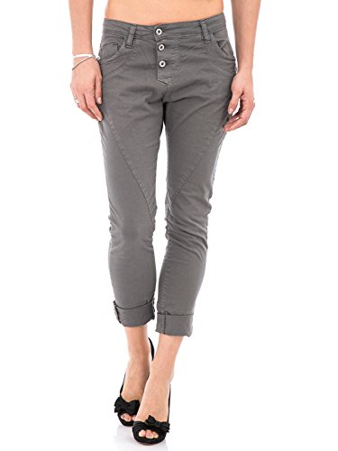 PLEASE - P78a jeans pantaloni da donna baggy boyfriend basic s grigio scuro