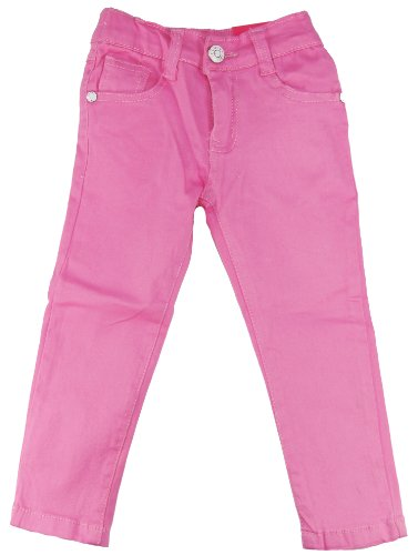 Coney Island Little Girls Skinny Twill Pants 2T Pink back-287516